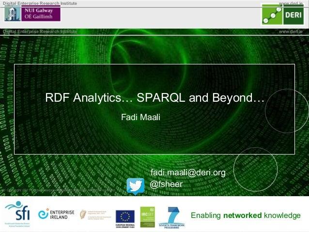 RDF Analytics... SPARQL and Beyond