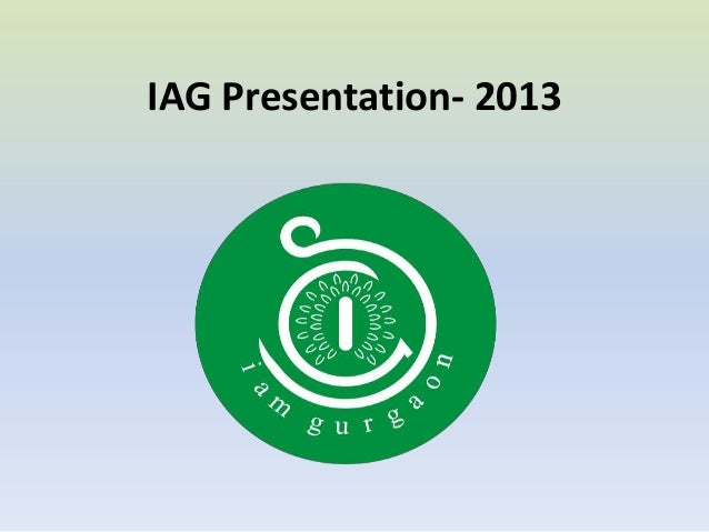 IAG Presentation- 2013