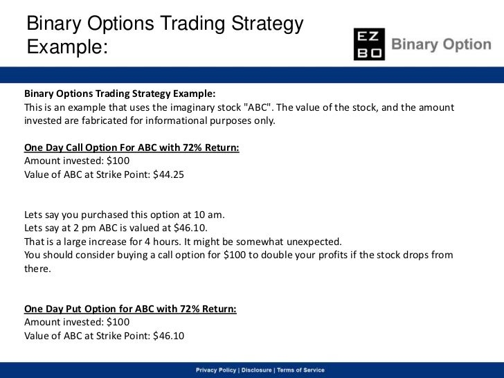 Binary option strategy blog