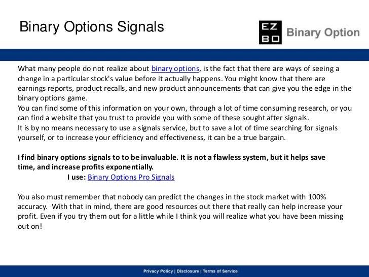 Free binary options tutorials