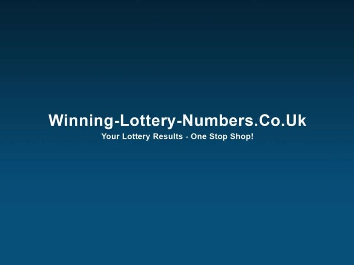 1. Tips For Picking The Winning Lottery NumberDo you think youre on the list of thousands of people across the world who c...