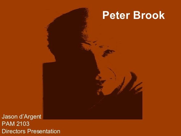 presentation about peter brook