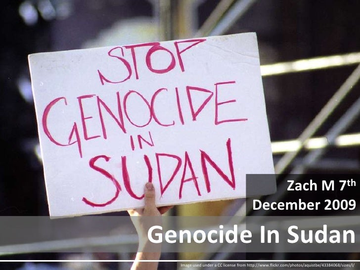 Zach M 7th<br />December 2009<br />Genocide In Sudan<br />Image used under a CC license from http://www.flickr.com/photos/...