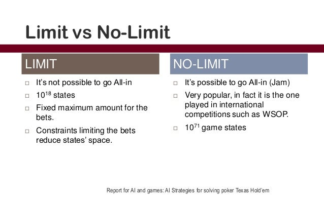 Texas holdem poker no limit strategy