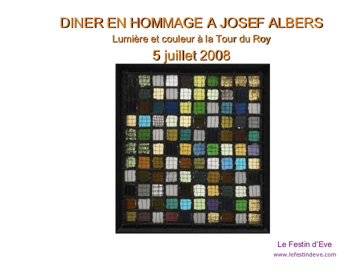 Presentation Albers  Light And Colour  2008