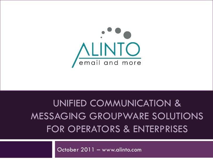 Presentation alinto uk-[novembre 2011]