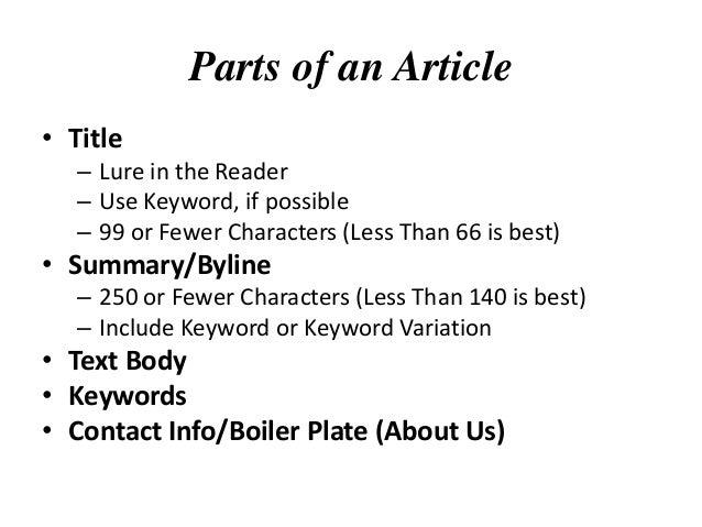 Online article summarizer