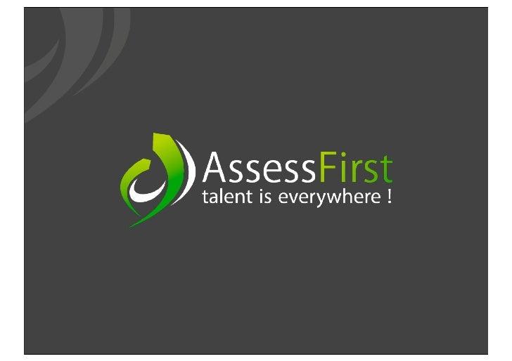 """PrésentationSociété  Un éditeur d'outils d'évaluation RH """"différents"""" et """"orientés utilisateurs"""""""