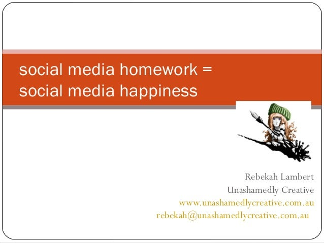Presentation  - How to enjoy Social Media happiness