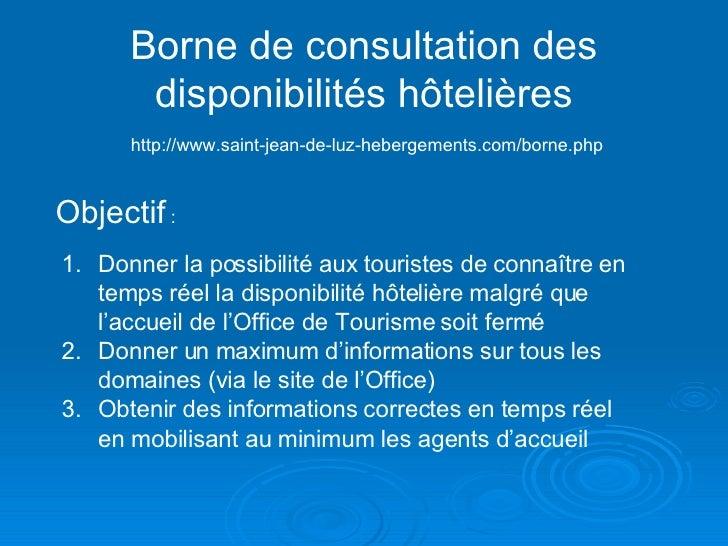 Presentation Borne