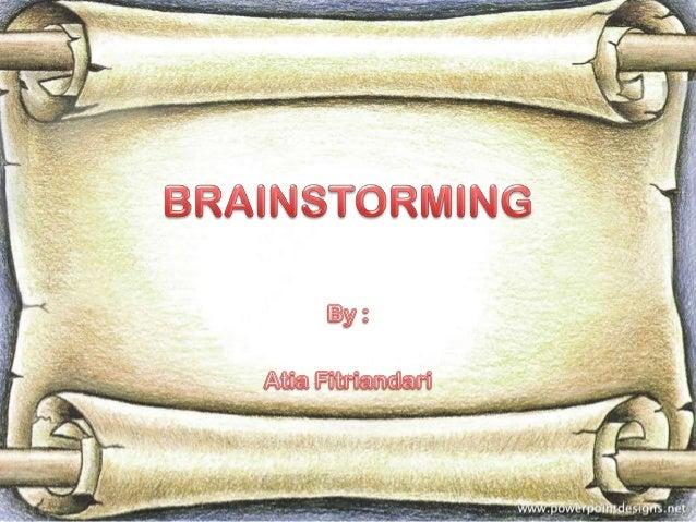 Presentation brainstorming