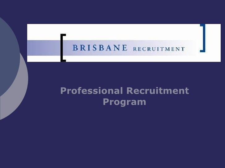Professional Recruitment Program