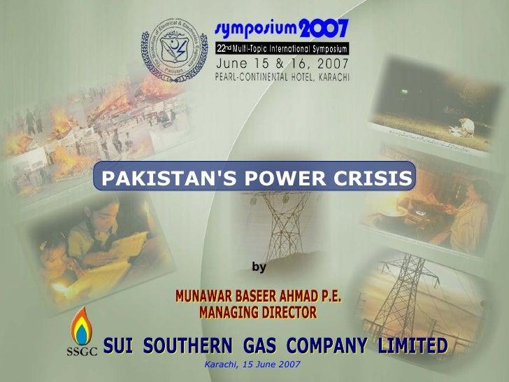 Presentation By Munawar Baseer Ahmed