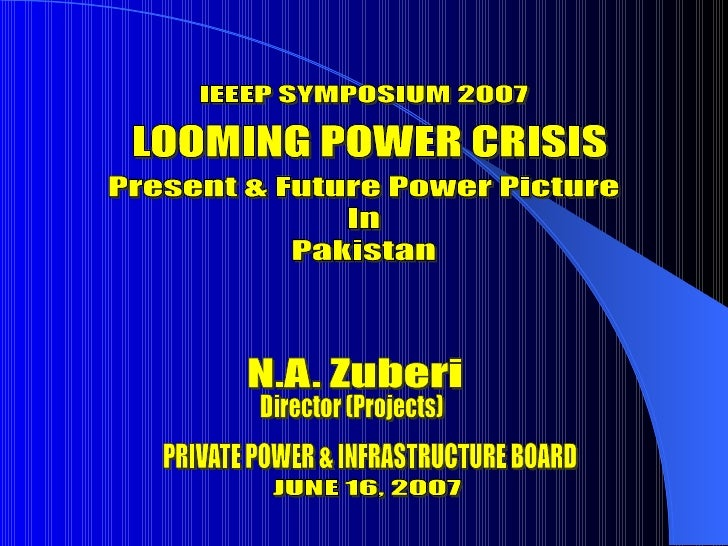 Presentation By N.A. Zuberi