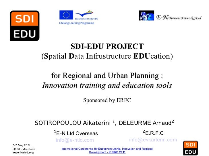 SDI-EDU PROJECT                    (Spatial Data Infrustructure EDUcation)                      for Regional and Urban Pla...