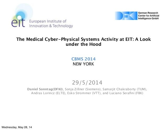 The Medical Cyber-Physical Systems Activity at EIT: A Look under the Hood CBMS 2014 NEW YORK 29/5/2014 Daniel Sonntag(DFKI...