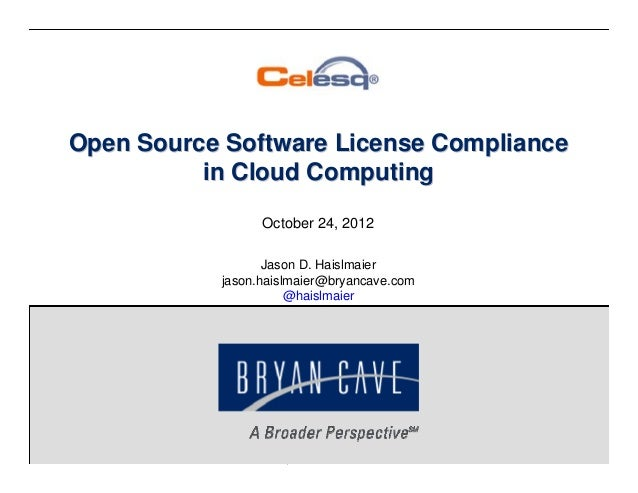 Open Source License Compliance in the Cloud (CELESQ) (October 2012)