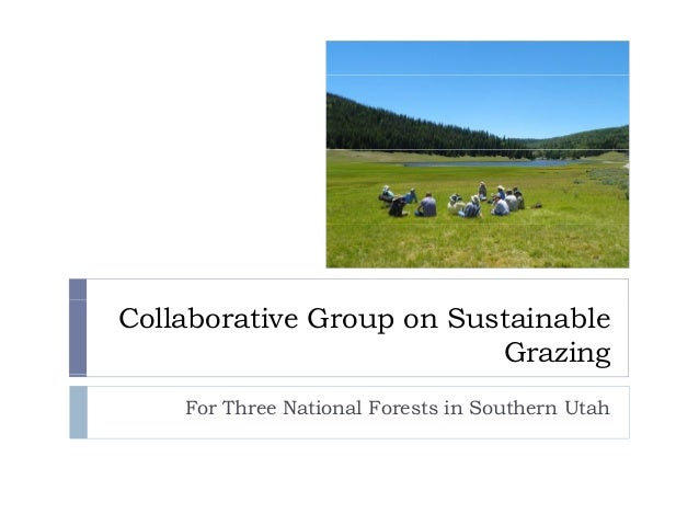 Collaborative Group on Sustainable Grazing For Three National Forests in Southern Utah