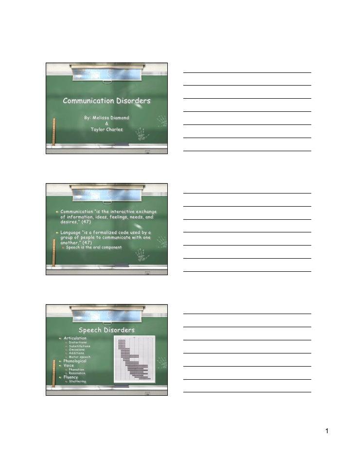 Presentation on Communication Disorders