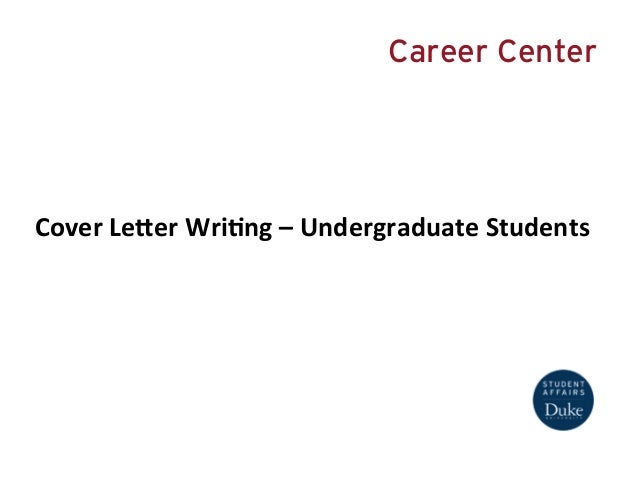 Cover Letter Writing- Undergraduate Students