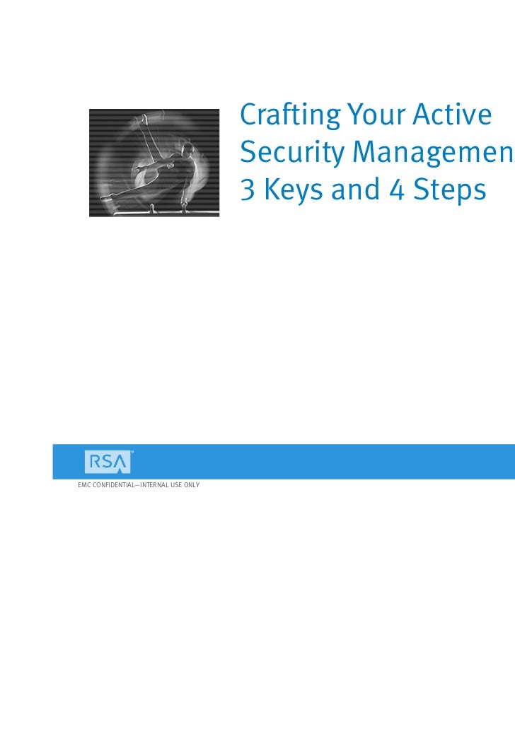 Crafting Your Active                                     Security Management Strategy:                                    ...