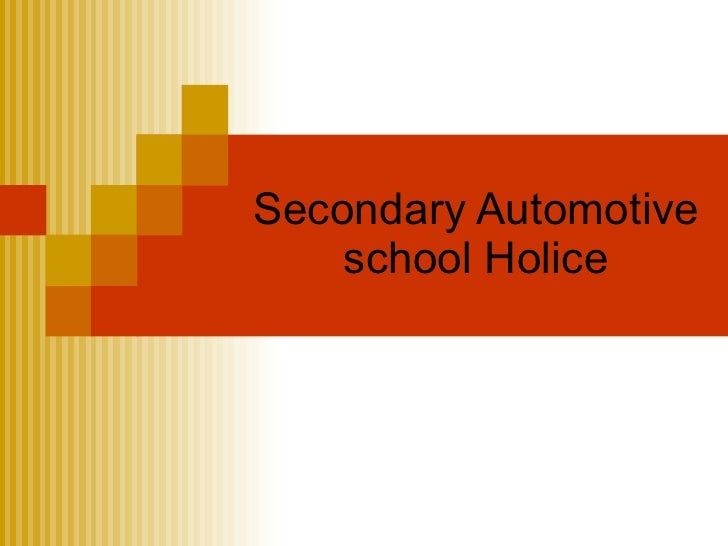 Secondary Automotive     school Holice