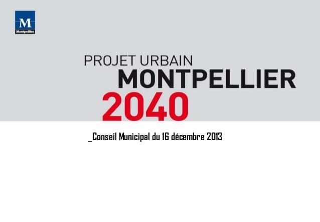 Presentation débat projet urbain Conseil Municipal 16/12/13