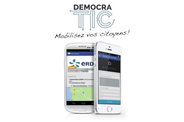 Mobilisez vos citoyens avec DemocraTIC (iOS + Android)