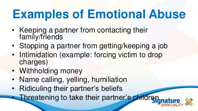 Emotional Abuse Amp Domestic Violence