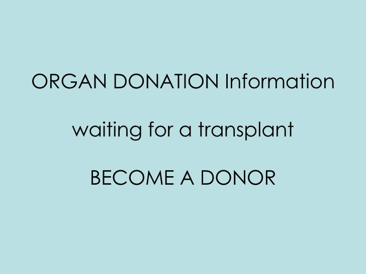 Organ Donation Persuasive Speech Outline