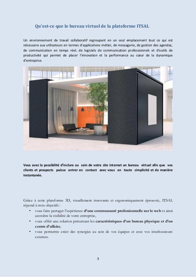 presentation du bureau virtuel html5 itsal