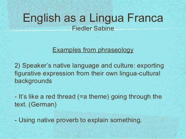 international lingua franca essay