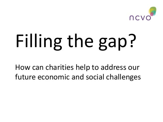 Filling the gap? How can charities help to address our future economic and social challenges