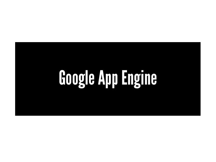 An introduction to Google's App Engine
