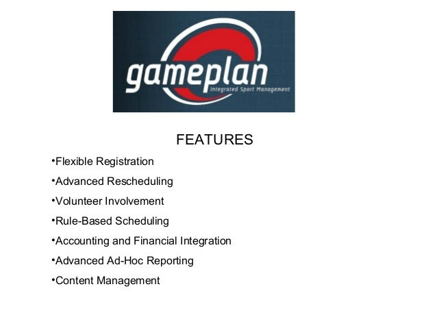 FEATURES •Flexible Registration •Advanced Rescheduling •Volunteer Involvement •Rule-Based Scheduling •Accounting and Finan...