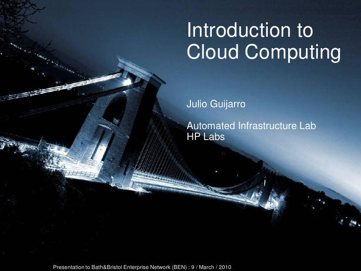 Introduction to                                                                        Cloud Computing                    ...