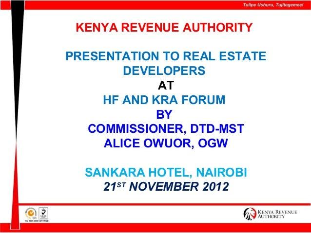 Presentation   hfck and kra forum 21112012