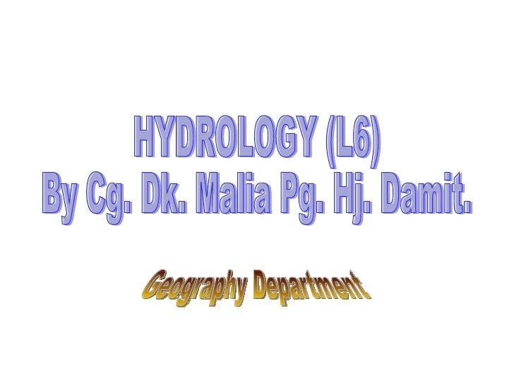 Presentation Hydrology