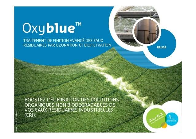 BOOSTEZ L'ÉLIMINATION DES POLLUTIONS ORGANIQUES NON BIODEGRADABLES DE VOS EAUX RÉSIDUAIRES INDUSTRIELLES (ERI). Oxyblue™ R...