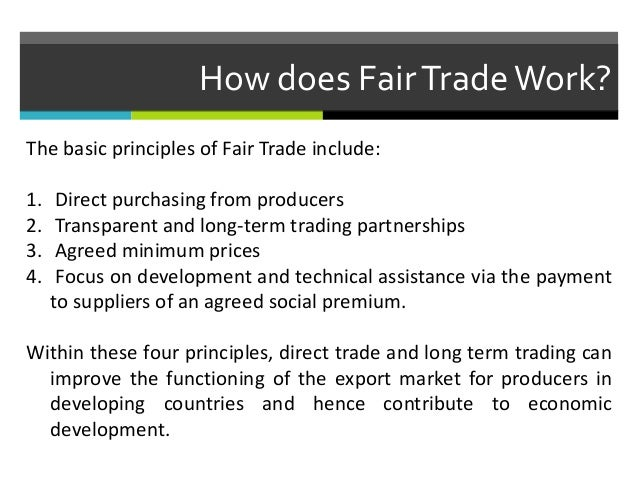 Is Fair Trade Good Or Bad For Economic Development