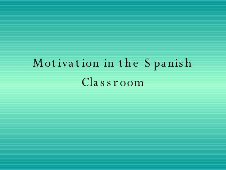 Motivación para aprender español