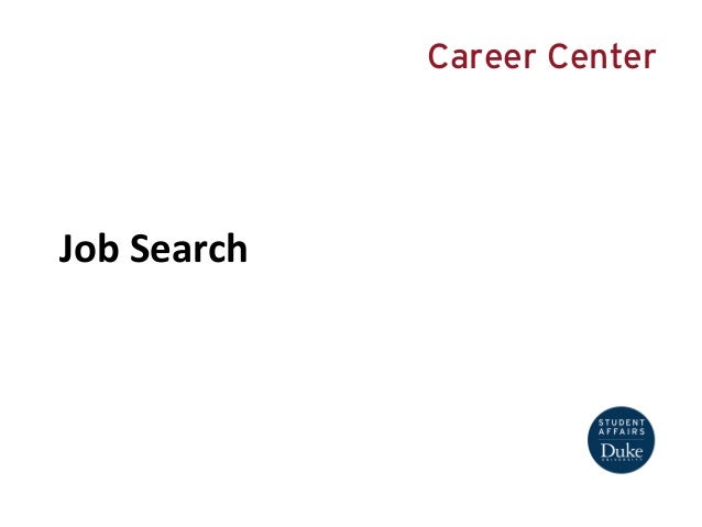 Job Search Presentation