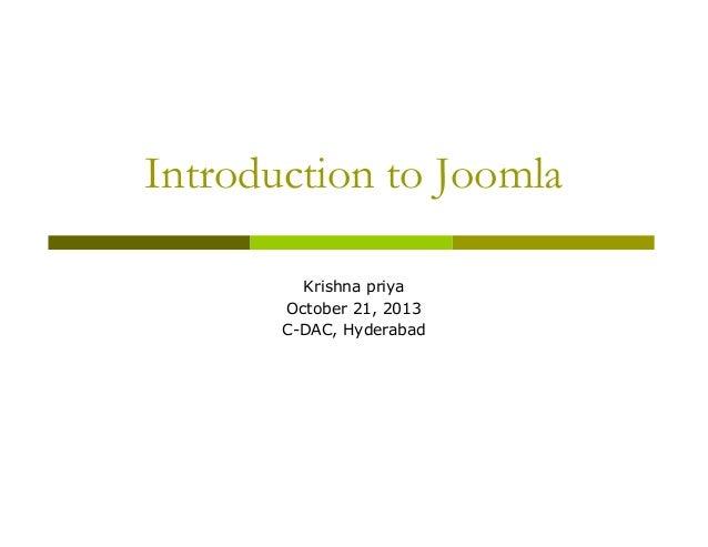 Presentation joomla-introduction