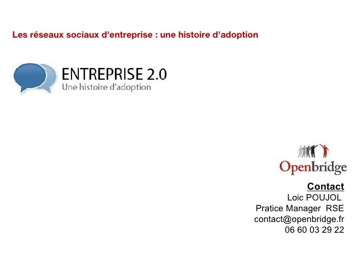 """Scénarii de déploiement - """"Adoption et Réseaux Sociaux d'Entreprise"""" - OpenBridge"""