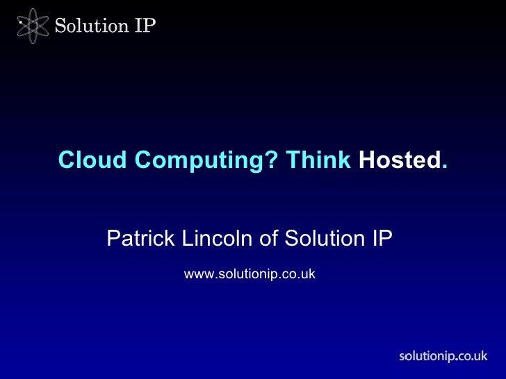 BEN Event - Cloud Computing - Lincoln