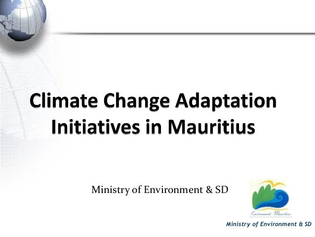 Presentation - Mauritius climate change adaptation strategies