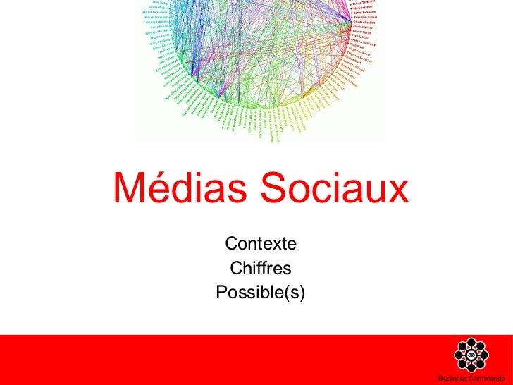 Médias Sociaux <ul><li>Contexte </li></ul><ul><li>Chiffres </li></ul><ul><li>Possible(s) </li></ul>