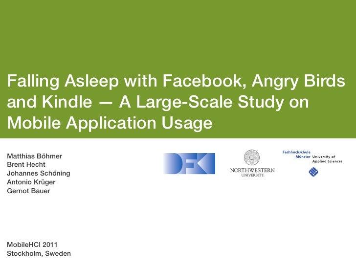 Presentation AppSensor at MobileHCI '11