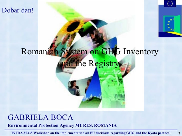 Romanian System on GHG Inventory  and the Registry   GABRIELA BOCA Environmental Protection Agency MURES, ROMANIA Dobar da...