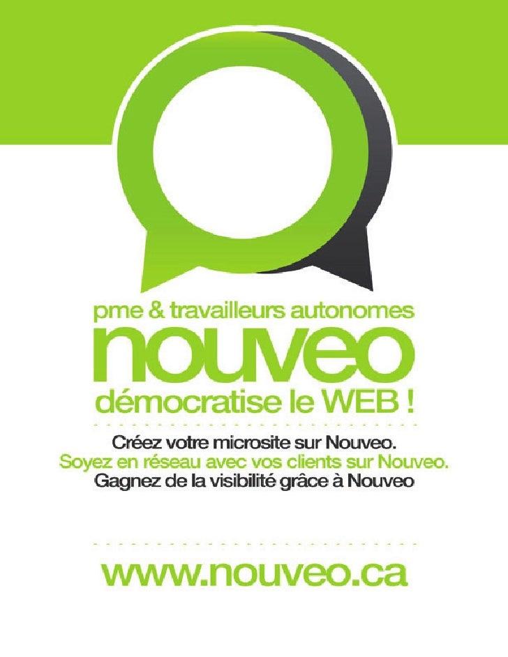 Présentation de Nouveo.ca